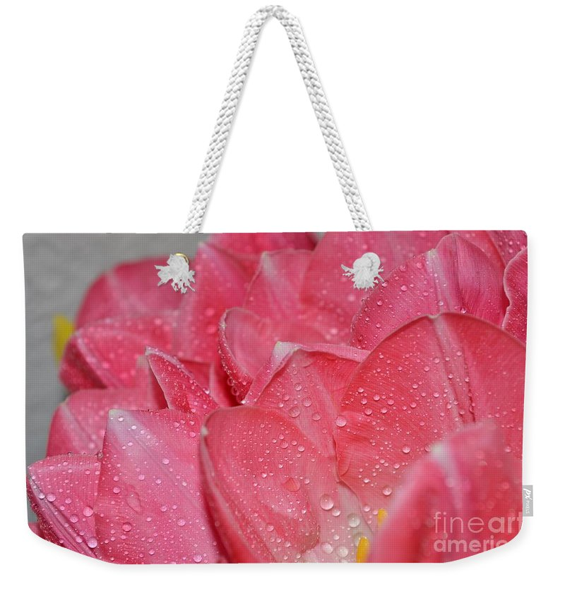 Tulip Weekender Tote Bag featuring the photograph Tulip Lacery by Felicia Tica