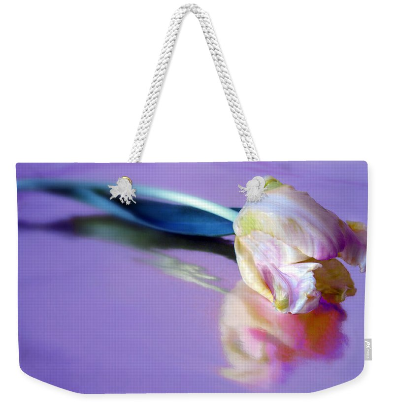 Flower Weekender Tote Bag featuring the photograph Tulip Reflected by Jessica Jenney