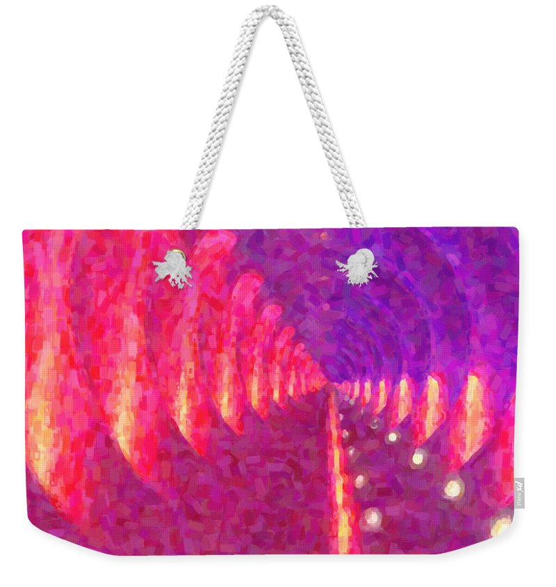 Kenny Francis Weekender Tote Bag featuring the digital art Tunnel Vision by Kenny Francis