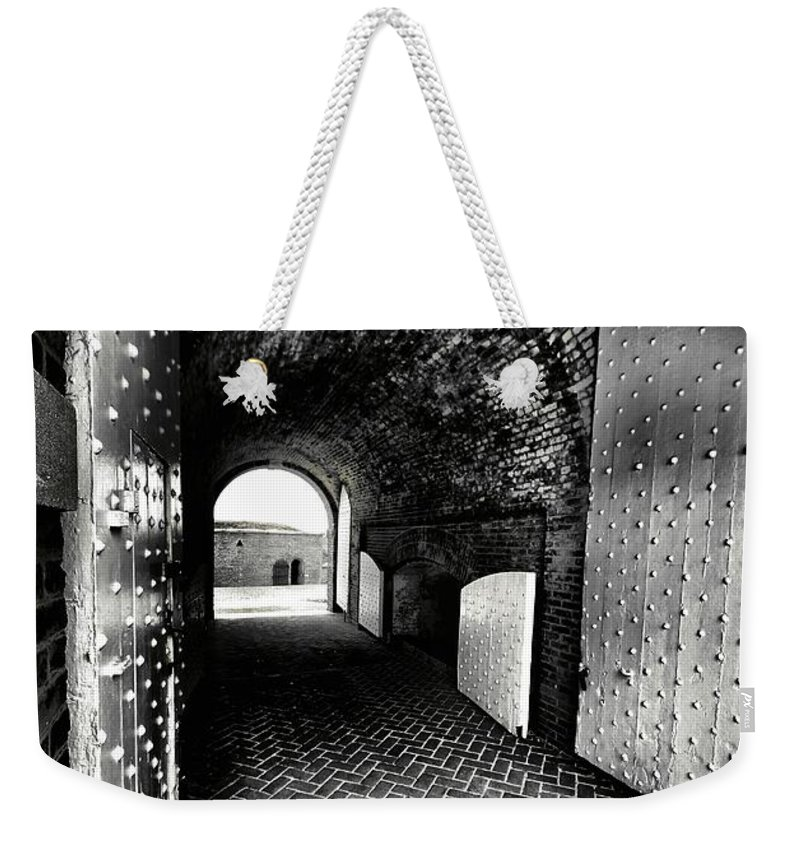 Architectural Art Weekender Tote Bag featuring the photograph Tunnel Vision by Robert McCubbin