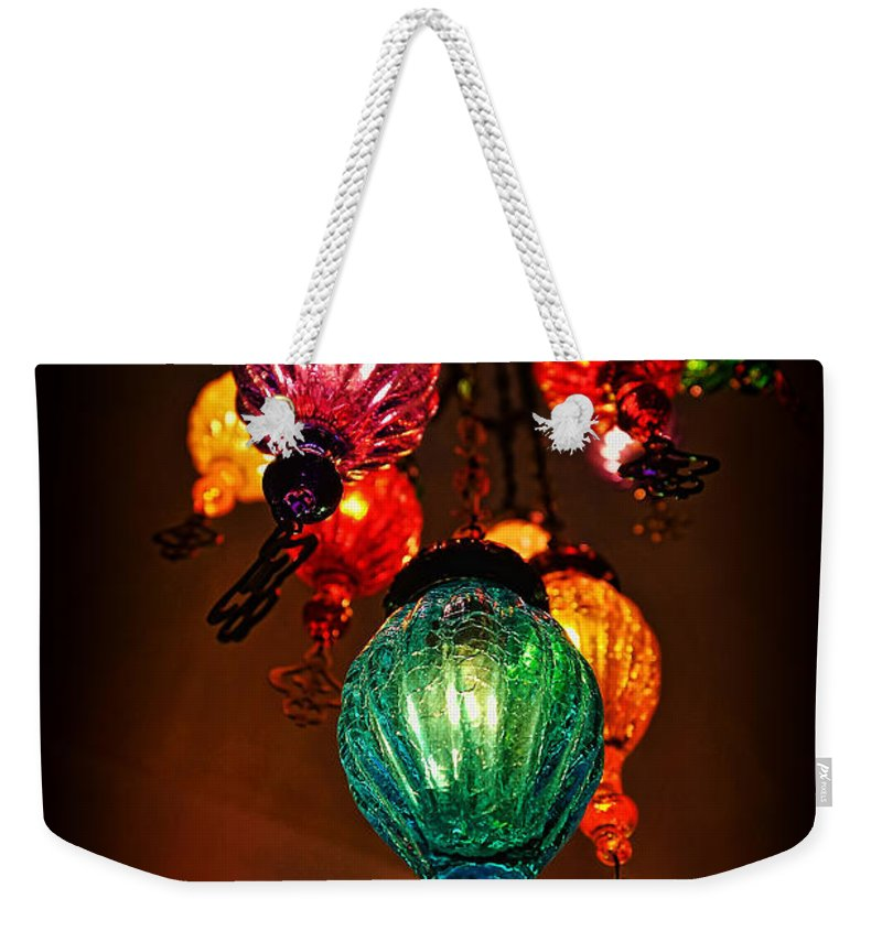 Turkish Lights Weekender Tote Bag featuring the photograph Turkish Lights by Wayne Kondoff
