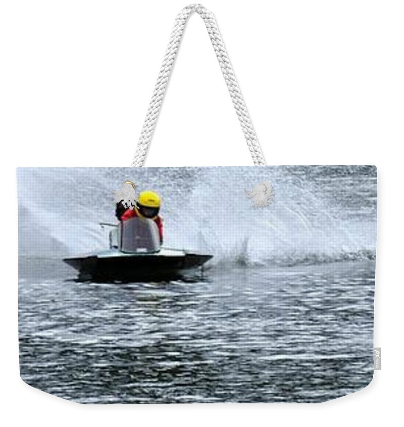 Rogers Weekender Tote Bag featuring the photograph Turn Two 24380 2 by Jerry Sodorff