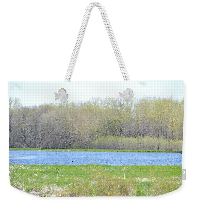 Turquoise Weekender Tote Bag featuring the photograph Turquoise Marsh by Bonfire Photography