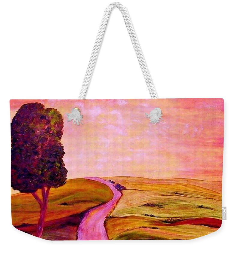 Tuscany Weekender Tote Bag featuring the painting Tuscan Skies ... An Impressionist View by Eloise Schneider Mote