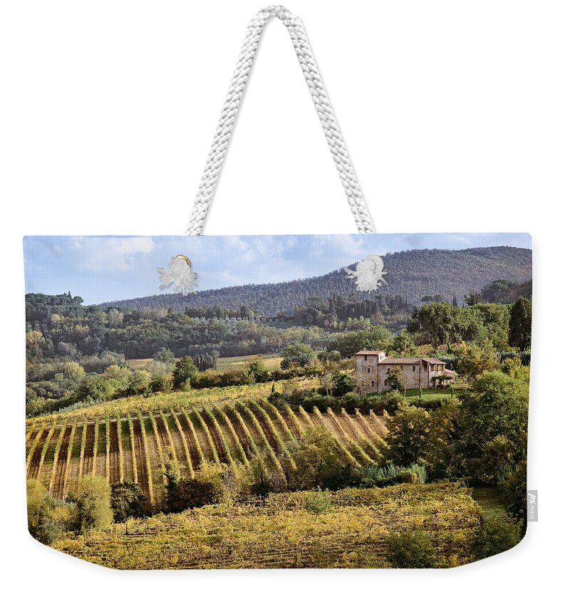 Tuscany Weekender Tote Bag featuring the photograph Tuscan Valley by Dave Bowman