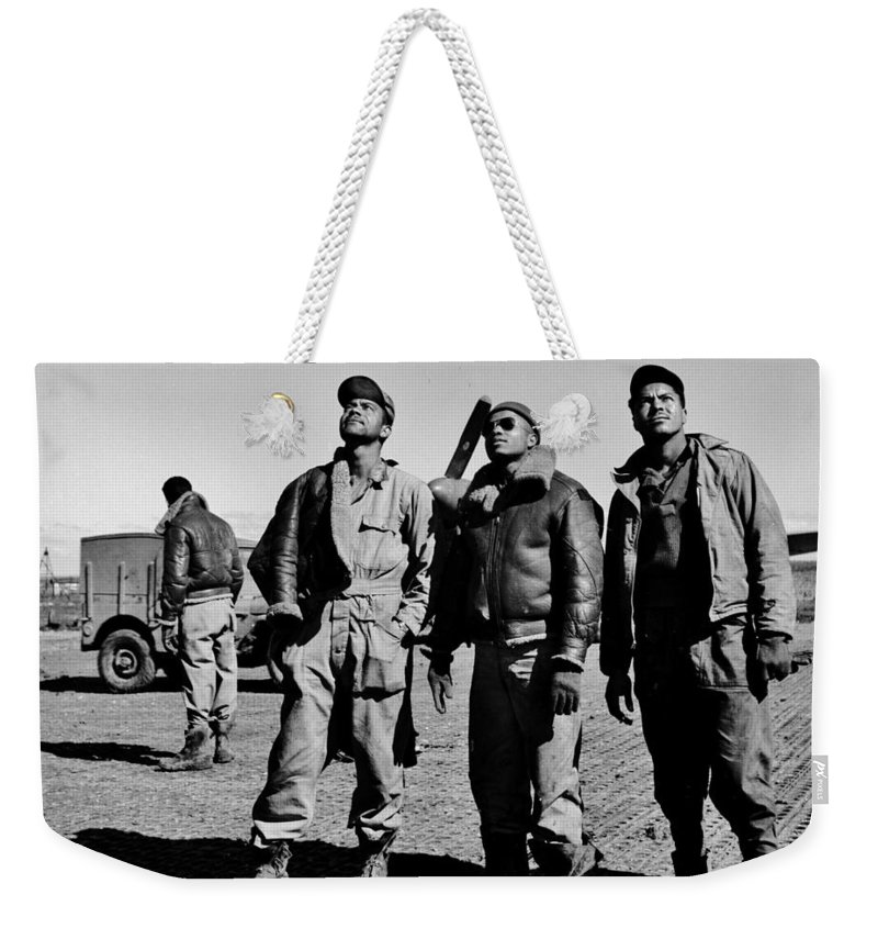Tuskegee Weekender Tote Bag featuring the photograph Tuskegee Airmen by Benjamin Yeager