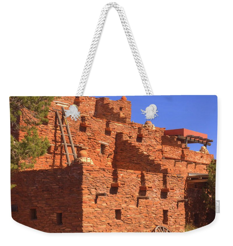 Tuzigoot Weekender Tote Bag featuring the photograph Tuzigoot Museum And Ruins Arizona by Douglas Barnett