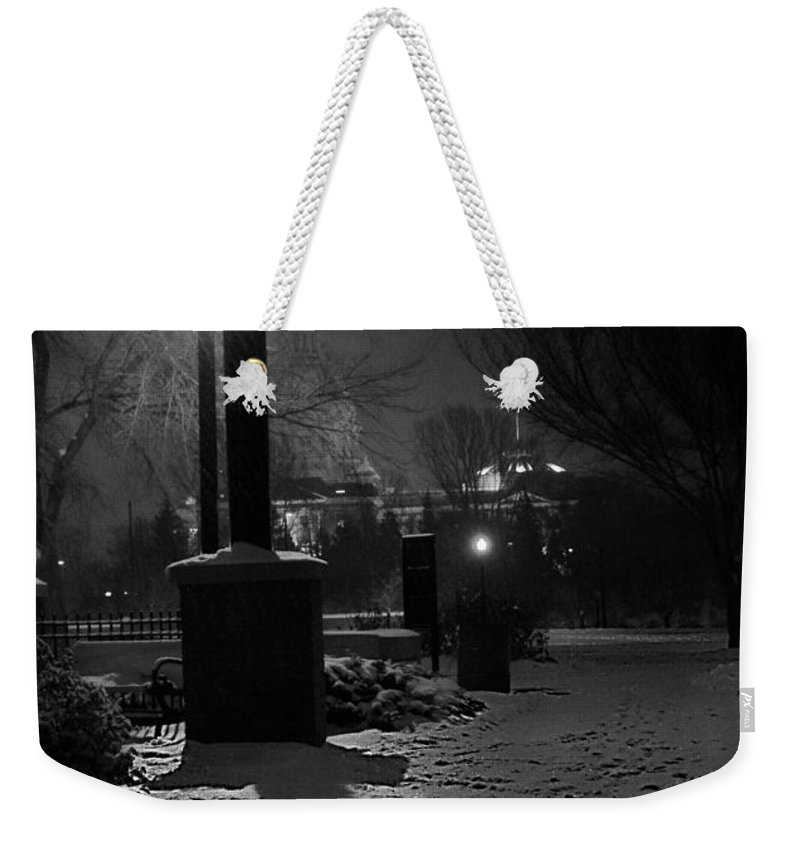 Shadows Weekender Tote Bag featuring the photograph Twelve Twenty Five by The Artist Project