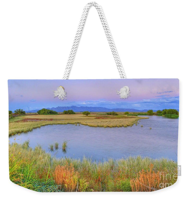 Whitewater Draw Weekender Tote Bag featuring the photograph Twilight At Whitewater Draw by Charlene Mitchell