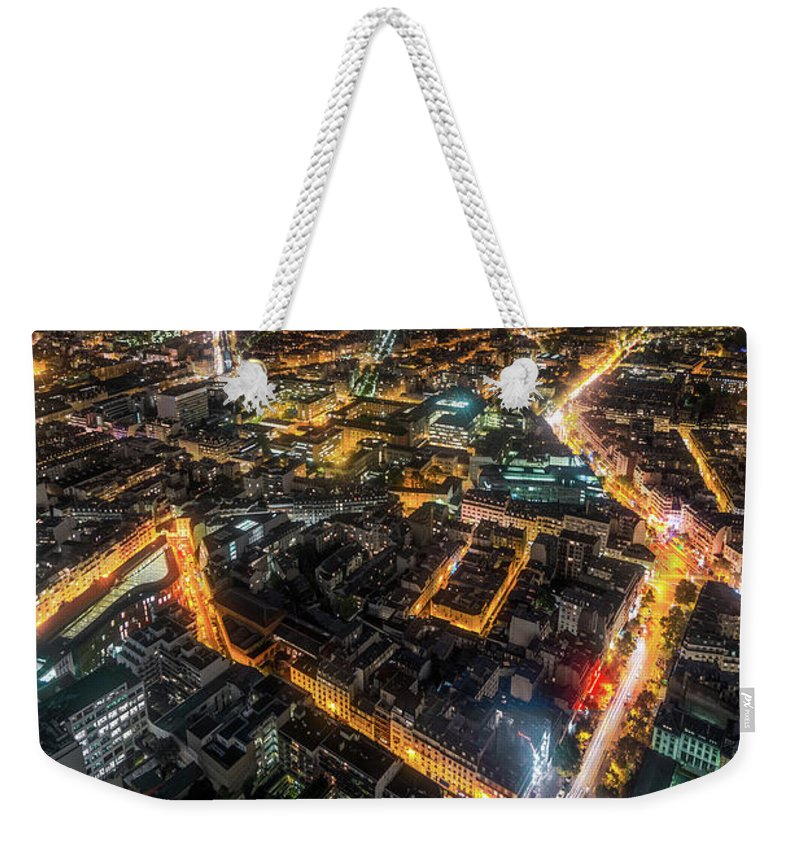 Tranquility Weekender Tote Bag featuring the photograph Twilight City View Of Paris by Coolbiere Photograph