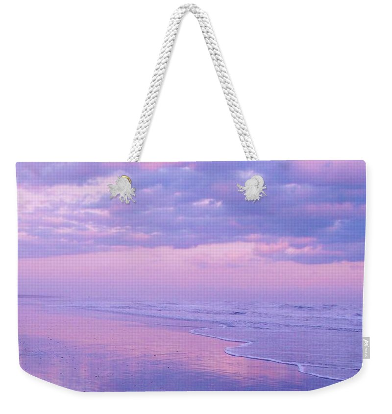 Twilight Weekender Tote Bag featuring the photograph Twilight Reflection Cape May by Eric Schiabor