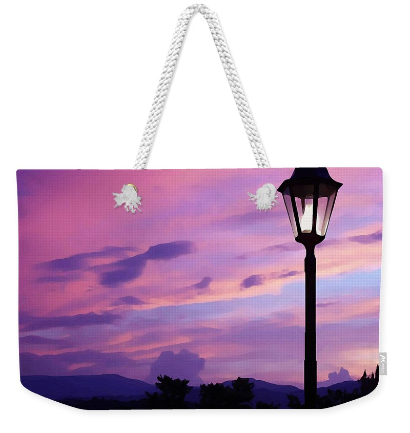 Twilight Time Weekender Tote Bag featuring the painting Twilight Time by Ellen Henneke