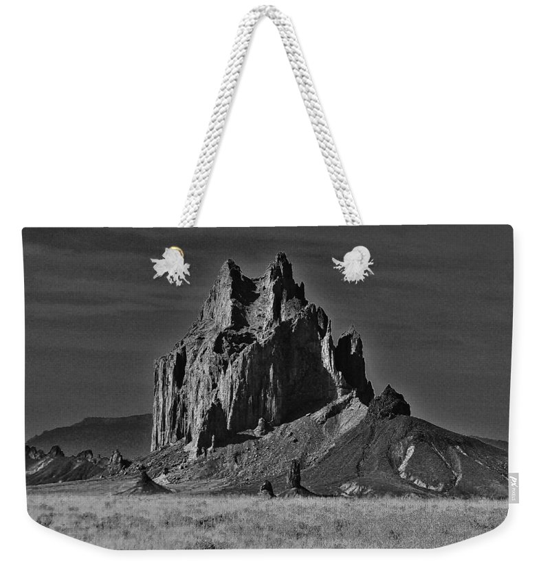 Shiprock Weekender Tote Bag featuring the photograph Twilight Zone by Benjamin Yeager