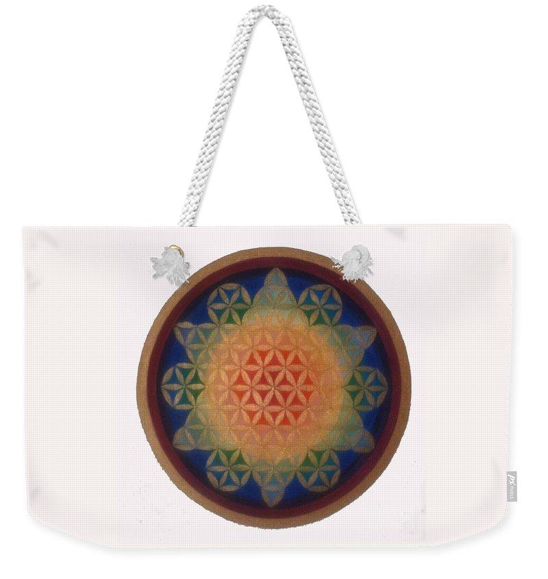 Mandala Weekender Tote Bag featuring the painting Twinkle Star by Mayki Wiberg