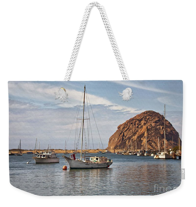 Boat Weekender Tote Bag featuring the digital art Two Boats by Sharon Foster