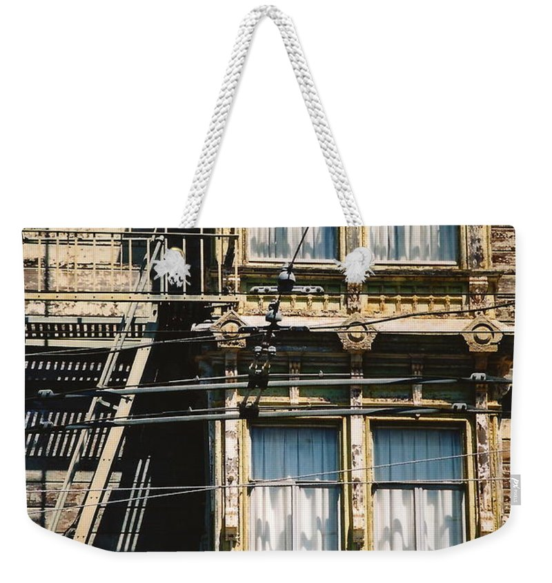 Architecture Weekender Tote Bag featuring the photograph Two By Two San Francisco by Dennis Knasel