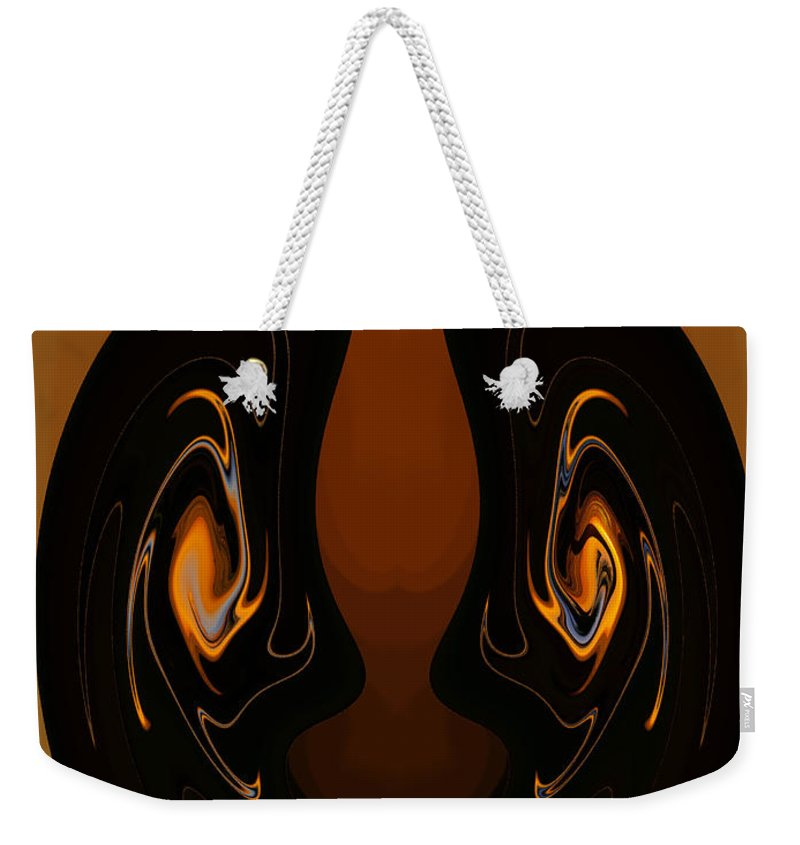 Digital Art Weekender Tote Bag featuring the photograph Two Faces by Athala Carole Bruckner