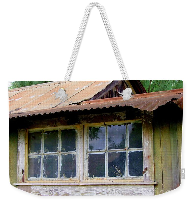 Windows Weekender Tote Bag featuring the photograph Two For The View by Mary Deal