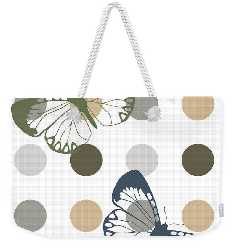 Butterfly Weekender Tote Bag featuring the photograph Two Makes A Pair by Pati Photography