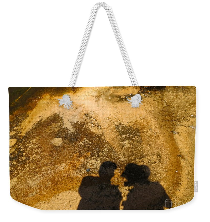 Abstract Weekender Tote Bag featuring the photograph Dragon Hunters by Ausra Huntington nee Paulauskaite