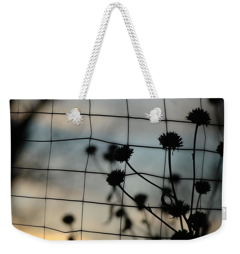 Flora Weekender Tote Bag featuring the photograph Two Sides Of The Fence by Gothicrow Images