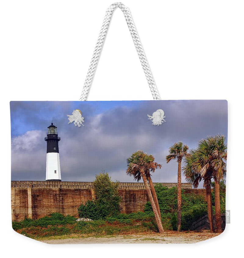 Architecture Weekender Tote Bag featuring the photograph Tybee Island Lighthouse by Marcia Colelli