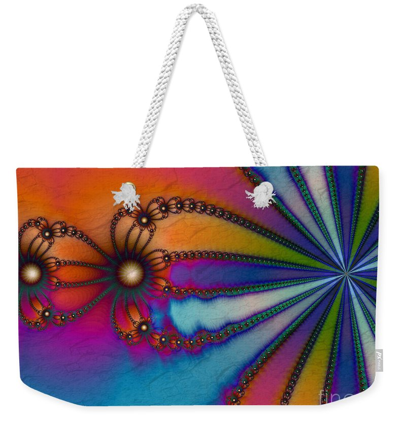 Tye Dye Weekender Tote Bag featuring the digital art Tye Dye by Kimberly Hansen