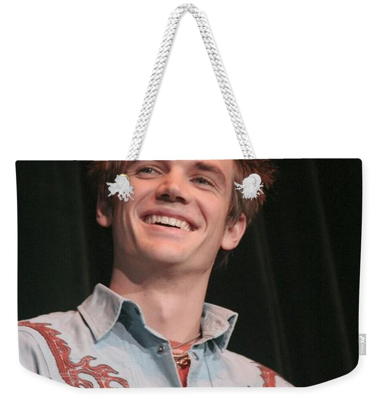 Actor Weekender Tote Bag featuring the photograph Tyler Hilton by Concert Photos