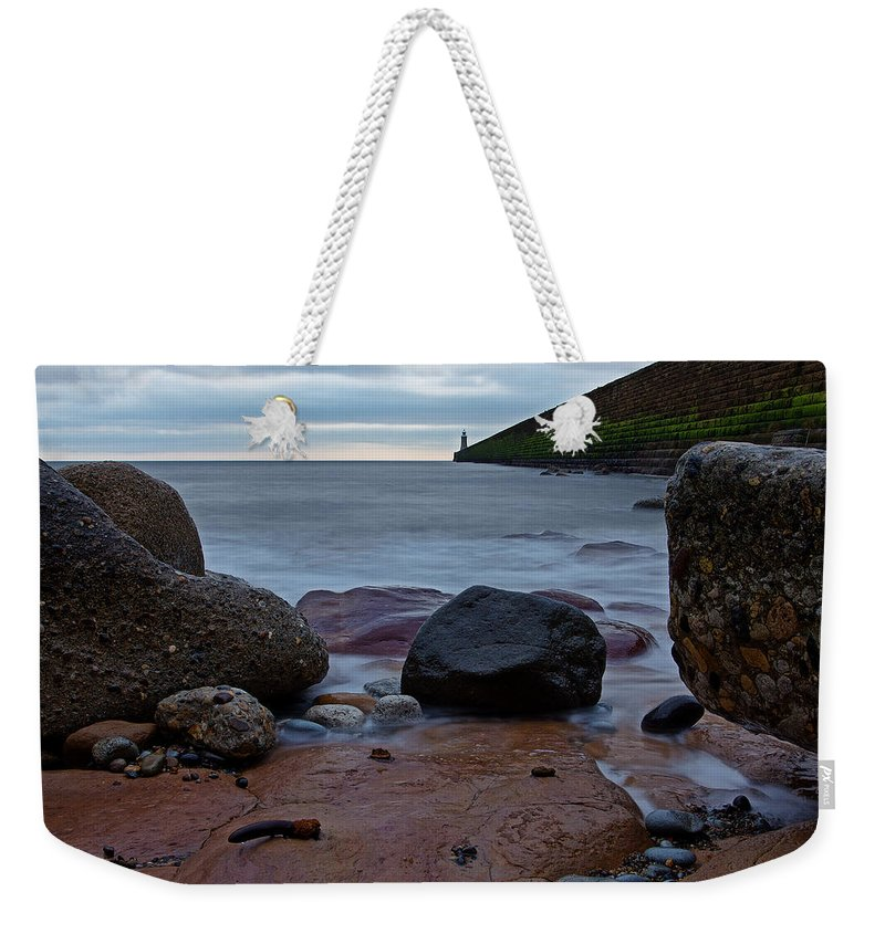 Tynemouth Weekender Tote Bag featuring the photograph Tynemouth Pier by David Pringle