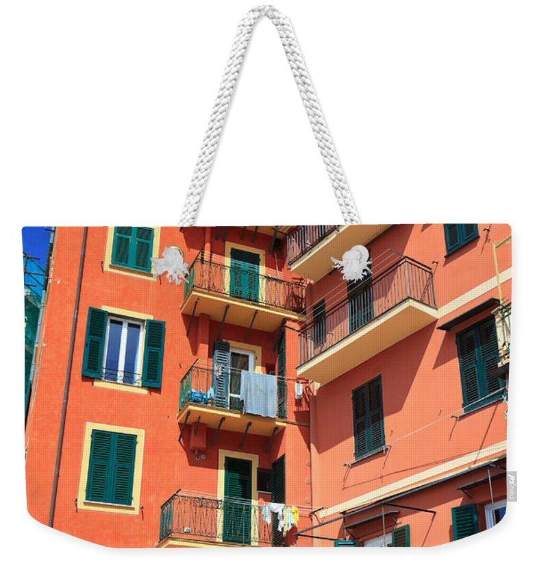 Ancient Weekender Tote Bag featuring the photograph Typical Ligurian Homes by Antonio Scarpi