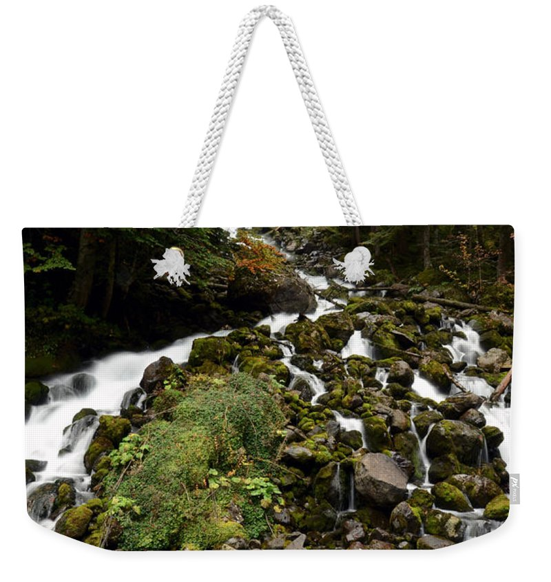 Fall Weekender Tote Bag featuring the photograph Uelhs Deth Joeu Falls by RicardMN Photography