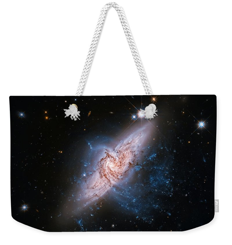 Universe Weekender Tote Bag featuring the photograph Ufo Galaxy by Jennifer Rondinelli Reilly - Fine Art Photography