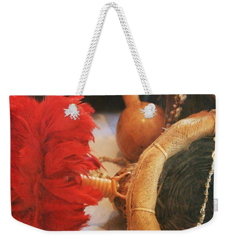 Weekender Tote Bag featuring the photograph Uliuli Hula Ahui Ko'i Ho'i Kahiko by Sharon Mau