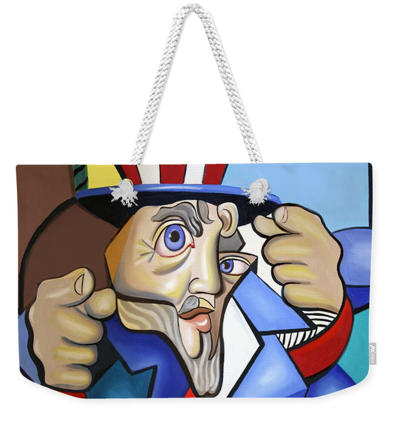 Uncle Sam 2001 Weekender Tote Bag featuring the painting Uncle Sam 2001 by Anthony Falbo