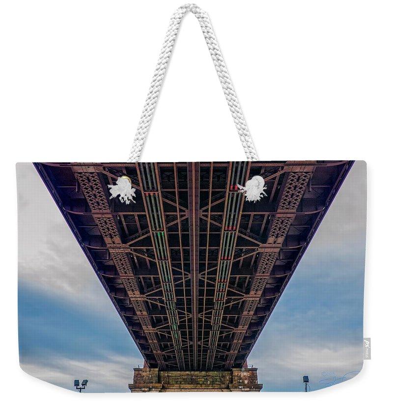 Queensboro Bridge Weekender Tote Bag featuring the photograph Under 59th Street Bridge by S Paul Sahm