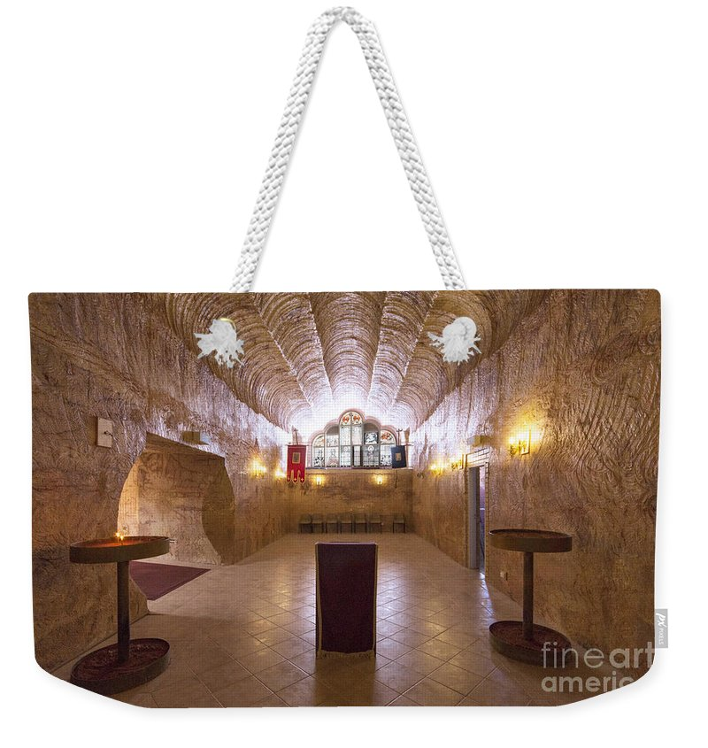 Church Weekender Tote Bag featuring the photograph Underground Church by Linda Lees