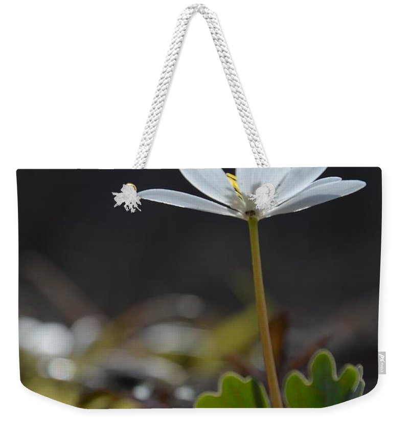 Flower Weekender Tote Bag featuring the photograph Underside View by Deanna Cagle