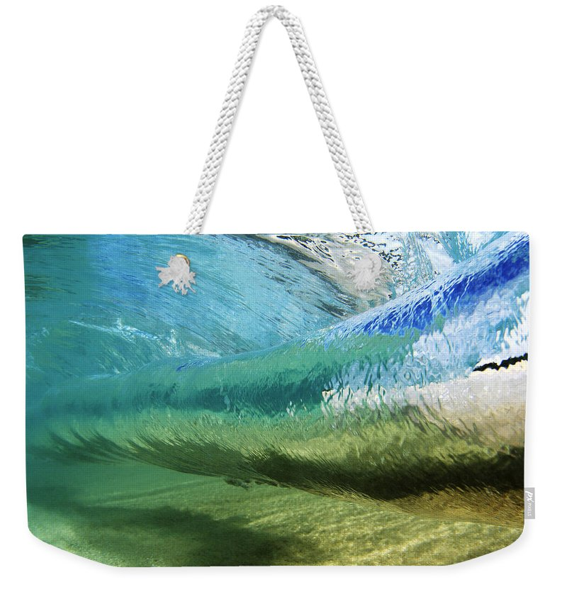 Amaze Weekender Tote Bag featuring the photograph Underwater Wave Curl by Vince Cavataio - Printscapes