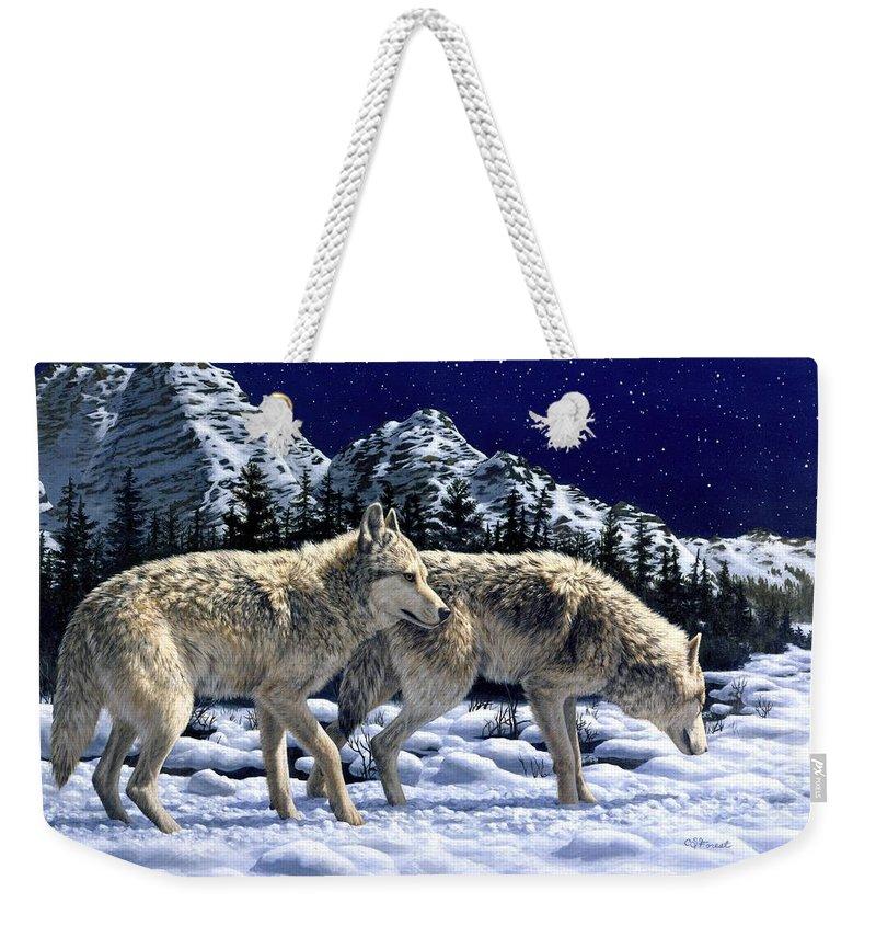 Wolves Weekender Tote Bags