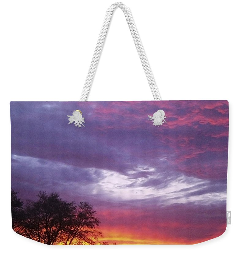 Sunrise Weekender Tote Bag featuring the photograph Unforgettable Majestic Beauty by Verana Stark