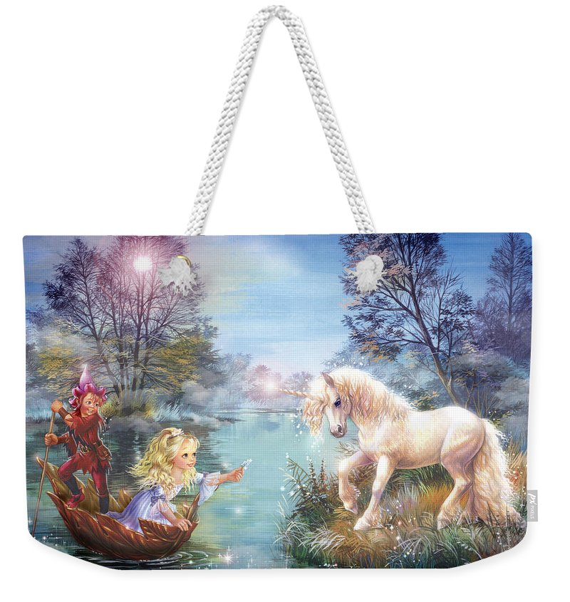 Unicorns Lake Weekender Tote Bag featuring the photograph Unicorns Lake by MGL Meiklejohn Graphics Licensing