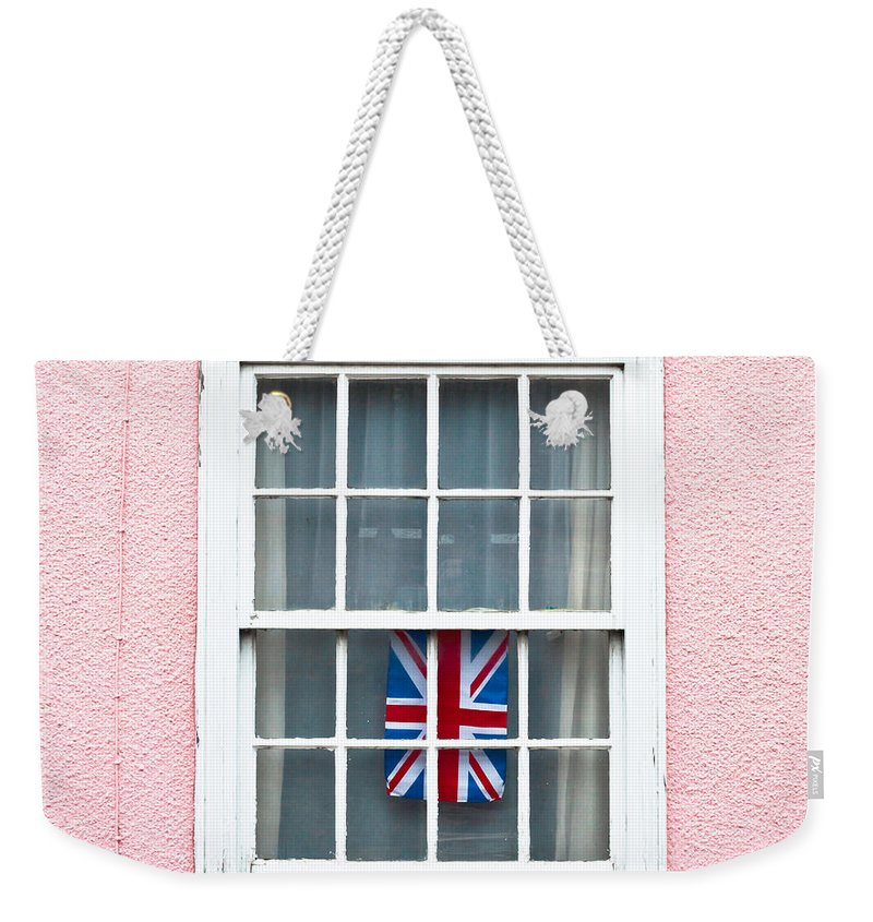 British Weekender Tote Bag featuring the photograph Union Jack by Tom Gowanlock