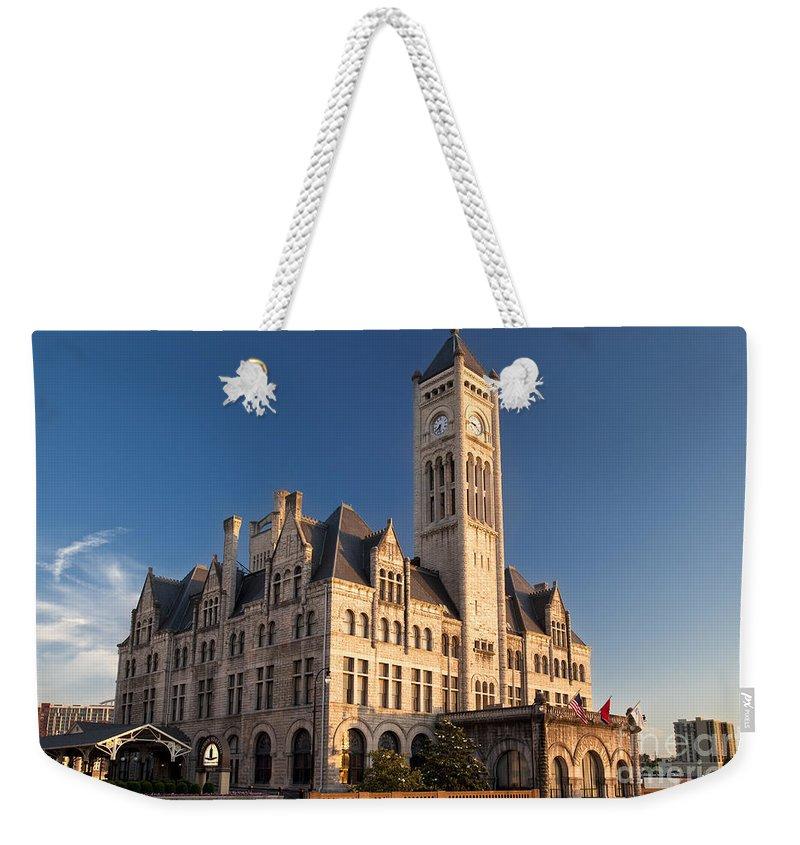 Architecture Weekender Tote Bag featuring the photograph Union Station by Brian Jannsen