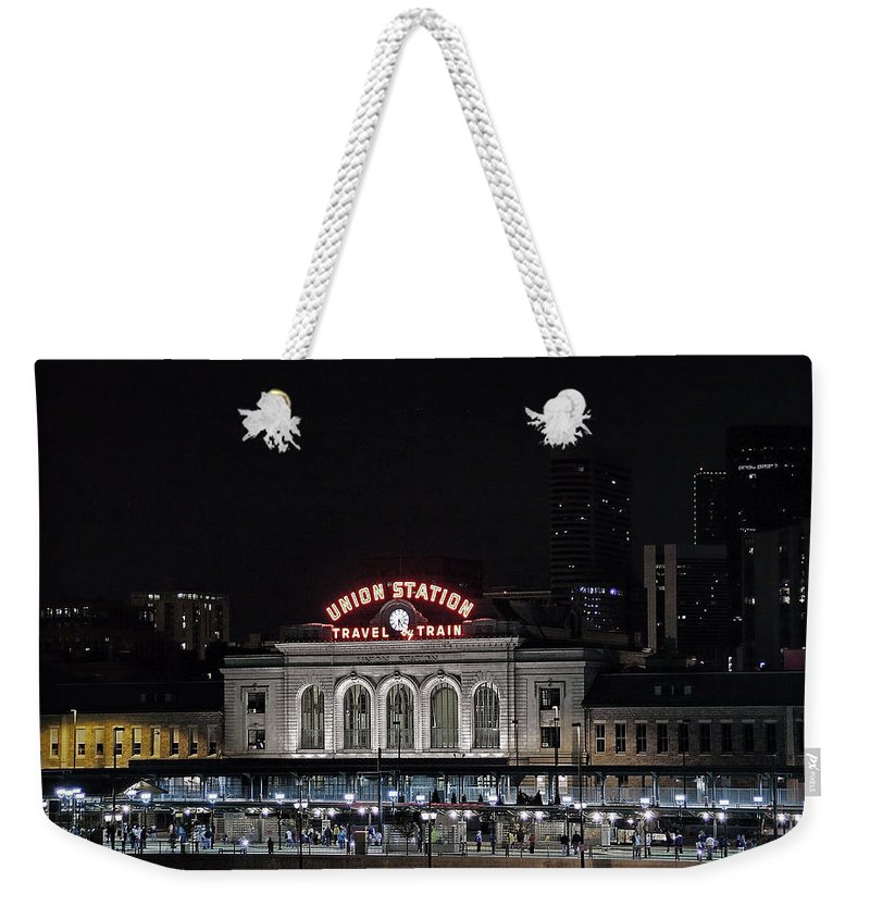 Union Station Weekender Tote Bag featuring the photograph Union Station Denver Colorado 2 by Ken Smith