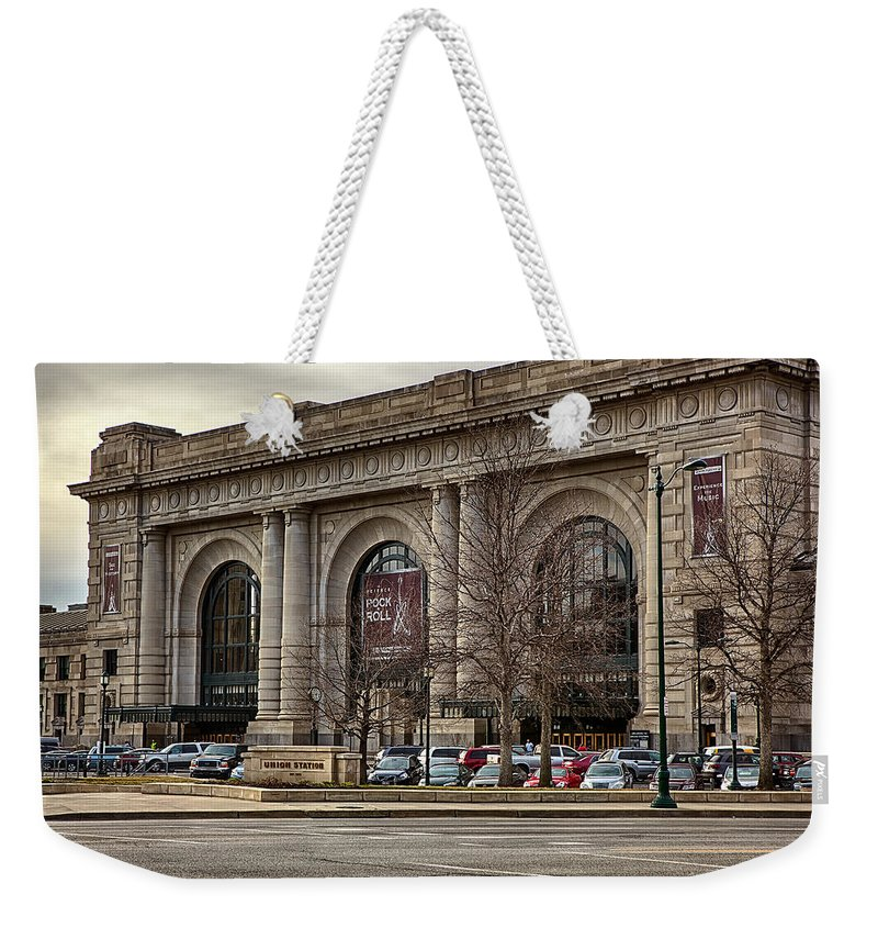 Kansas City Weekender Tote Bag featuring the photograph Union Station by Sennie Pierson