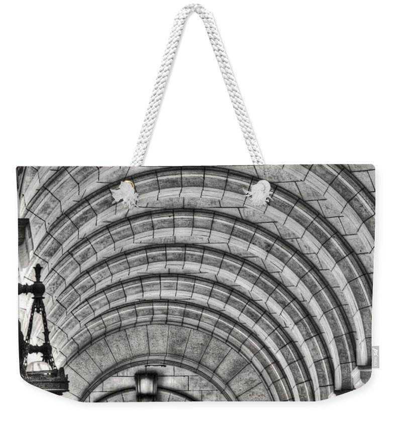 Washington Weekender Tote Bag featuring the photograph Union Station by Traci Law