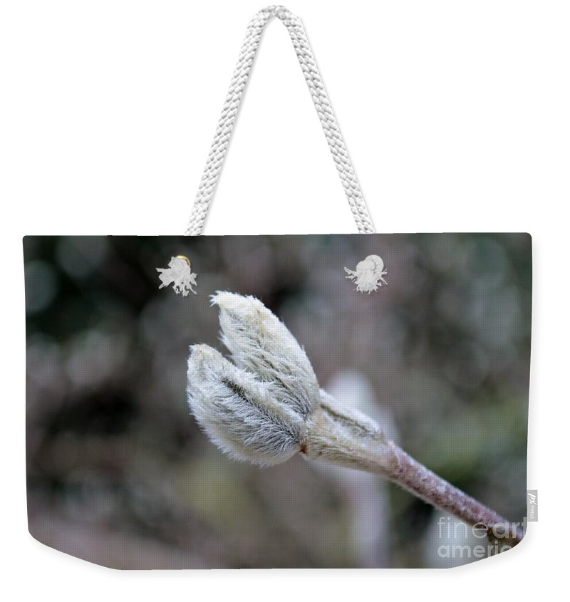 Bud Weekender Tote Bag featuring the photograph Unique Bud by Felicia Tica