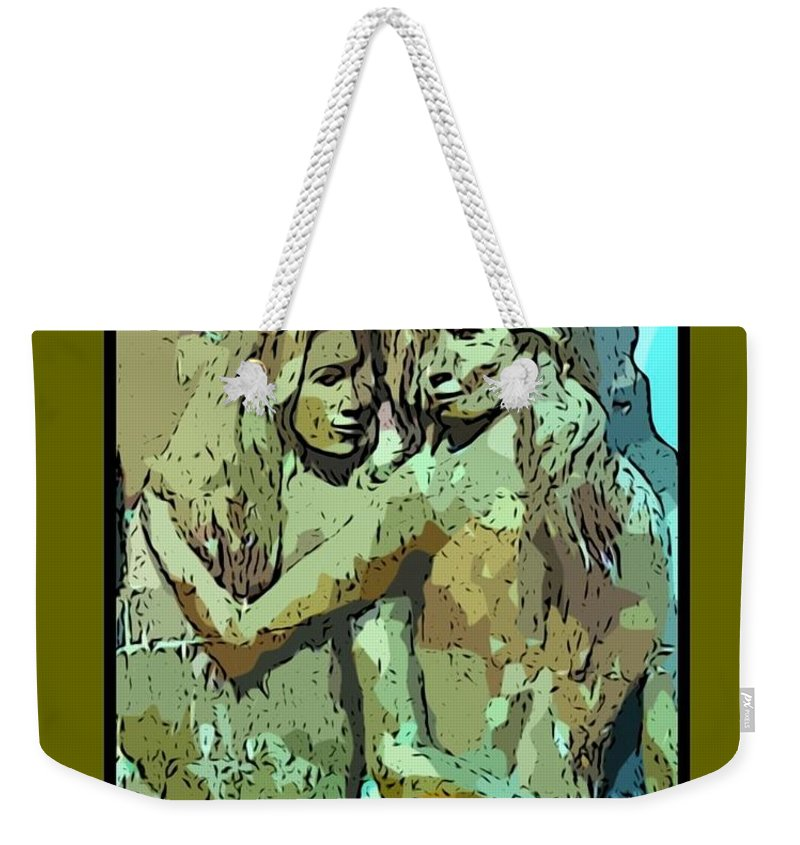 Unique Mothers Day Card Weekender Tote Bag featuring the photograph Unique Mothers Day Card by John Malone Halifax Graphic Artist