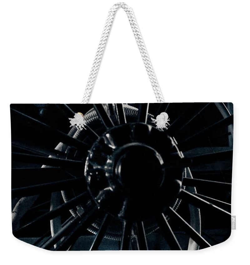 Spokes Weekender Tote Bag featuring the photograph Unspoken by Jessica Brawley