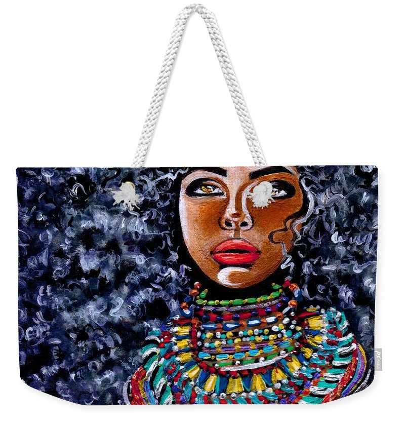 Artbyria Weekender Tote Bag featuring the photograph Untamed Beauty by Artist RiA